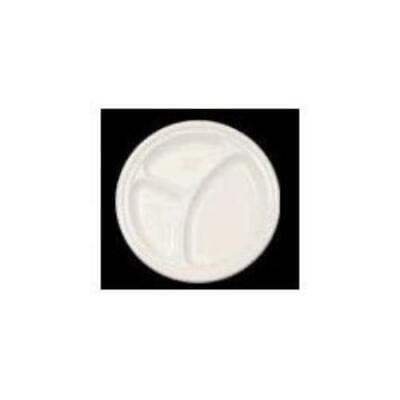 Dart Dart 3-sect Disposable Plastic Dinnerware Plate (10cpwf)