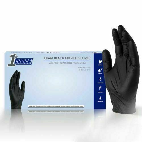 1000/Case Disposable Powder-Free Nitrile Medical Exam Gloves (Vinyl Latex Free)