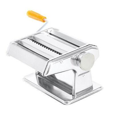 الة صنع المعكرونة جديد Stainless Steel Fresh Pasta Maker Noodle Roller Machine Spaghetti Fettuccine