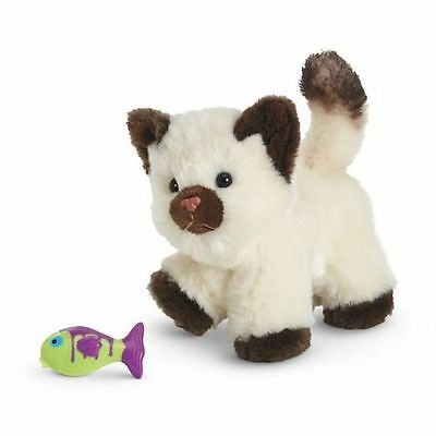 "American Girl Himalayan Kitten Cat kitty w fish toy New in box 18"" doll pet"