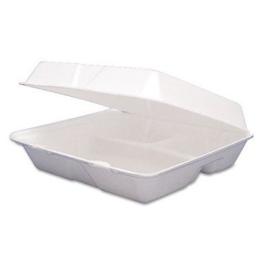 Dart 85HT3R, 8x8x3-Inch 3-Compartment Foam Containers With Hinged Lid, 100 ()