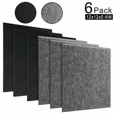 Acoustic Panels Studio Foam Soundproofing Panels Nosie Dampening Black+Gray
