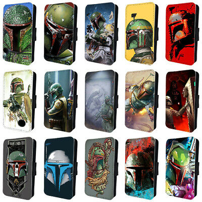 BOBA FETT STAR WARS DARTH VADER FLIP PHONE CASE COVER for iPHONE 4 5 6 7 8 X
