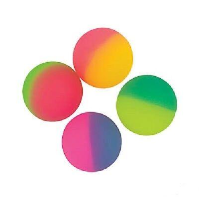 4Pcs Icy Two Tone Bouncing Balls