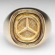 Mens Gold Lapis Lazuli Ring