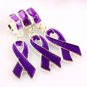 Purple Ribbon Beads