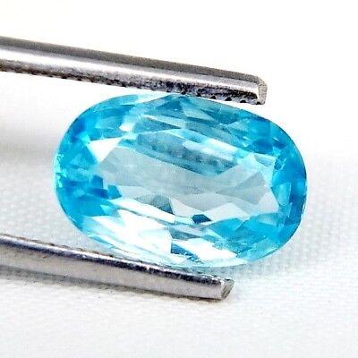 TOP ZIRCONE : 3,80 Ct Natürlicher Blau Zirkon aus Kambodscha