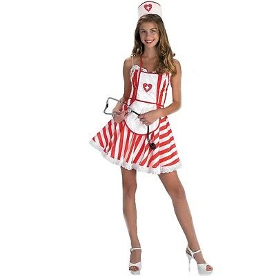 Handy Candy Striper Sexy Nurse Costume Outfit Dressup/Roleplay. Size Large 12-14 - Striper Outfits