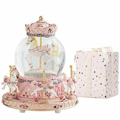 Carousel Horse Music Box Color Snow Globes Unicorn Christmas Birthday Gifts