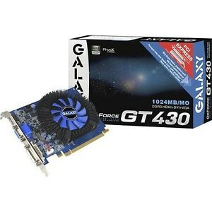Galaxy - GeForce GT 430 1GB DDR3 PCI Express 2.0 Graphics Card( BB43GGS8HX3SPZ)