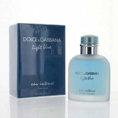 D & G Light Blue Eau Intense 3.3 Oz Eau De Parfum Spray Dolce & Gabbana Box Men