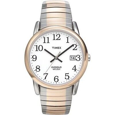 Timex T2H311, Easy Reader, Men's, 2-Tone Expansion Band, Indiglo, Date,