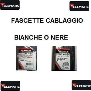 FASCETTE STANDARD NYLON per CABLAGGIO FISSAGGIO FILI CAVI CONFEZIONE 100 Pz.  eBay