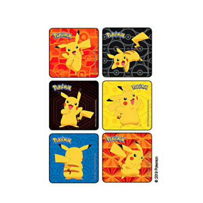 25 Pokemon Pikachu STICKERS Party Favors Supplies for Birthday Treat Loot Bags - Pokemon Birthday Favors