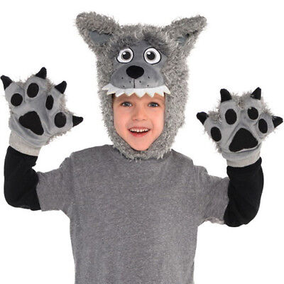 HALLOWEEN WOLF CHILD COSTUME ACCESSORY KIT (3pc) ~ Birthday Party Supplies Boy - Kid Wolf Costume