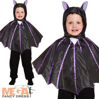 Toddler Bat Age 2-3 Fancy Dress Vampire Halloween Boys Girls Childrens Costume - Toddler Girl Vampire Costume