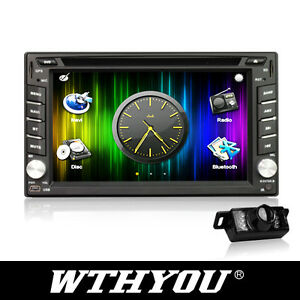 A02C DOUBLE 2DIN HD CAR DVD PLAYER GPS STEREO BT IPOD FREE REVERSING CAMERA
