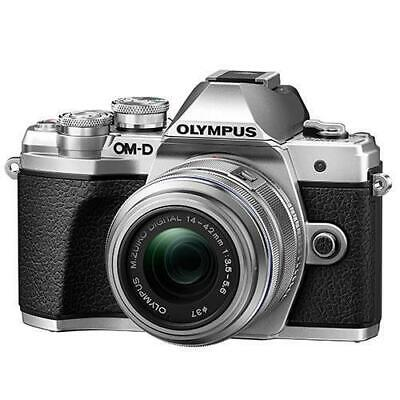 Olympus OM-D E-M10 Mark III Mirrorless Camera With 14-42mm R Lens Silver