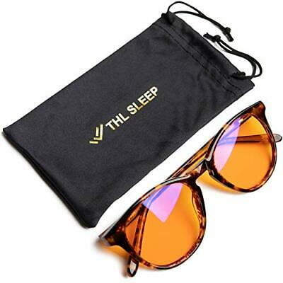 Blue Light Blocking Glasses for Better Sleep Amber Orange Computer Filter