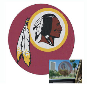 Washington Redskins Perforated Vinyl Decal Sticker Emblem 8x8 FAST USA SHIPPER