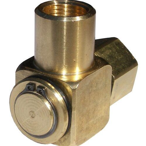 JE Adams 7475 90° Hose Reel Swivel Brass 1/2 F x 1/2 F, 3000 PSI
