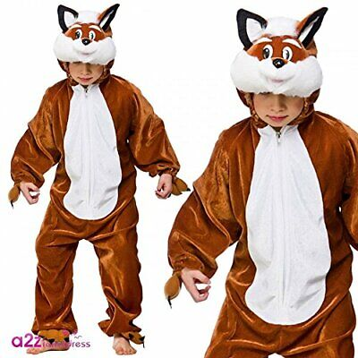 Farm Jungle Animal Childrens Fancy Dress Costume Fox 3 Sizes (5-6 years)