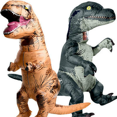 Inflatable Jurassic Park Adults Fancy Dress Dinosaur Halloween Costume Outfit - Jurassic Park Halloween Costumes