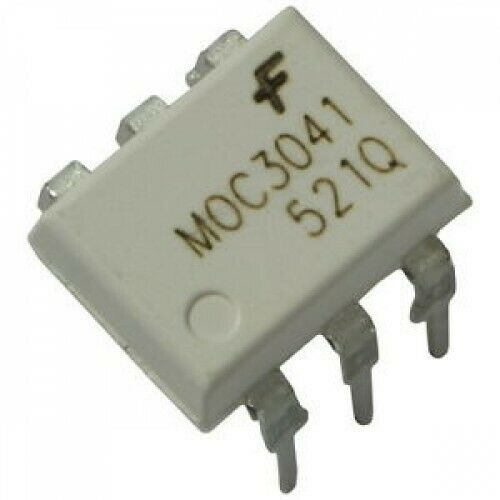 OptoCoupler MOC3021 / MOC3041 / MOC3061 for Triac DIP-6 - ResistorsPlus