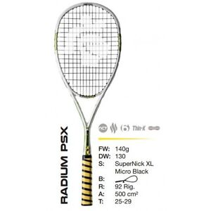 BRAND NEW Black Knight Ion Radium PSX Squash Racket