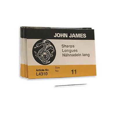John James Sharps Needles Size 12 43372 (25) L4310 English Beading Sewing Needle