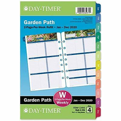 Day-timer 2020 Weekly Planner Refill Two Pages Per Week 5-12 X 8-12 Desk