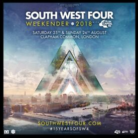 2 x Saturday SW4 Tickets - Can send tickets by email straight away