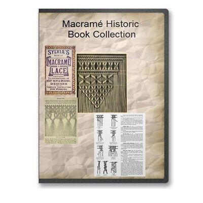 macrama instruction cord weaving bracelets beads 7 historic books cd b513