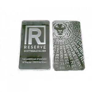 10 oz Lingotin Argent Pur Silver Scottsdale Reserve Bar .999