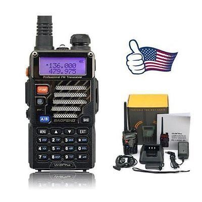 Baofeng UV-5R+ Plus V/UHF 136-174/400-520MHz Dual-Band FM Two-way Ham Radio US
