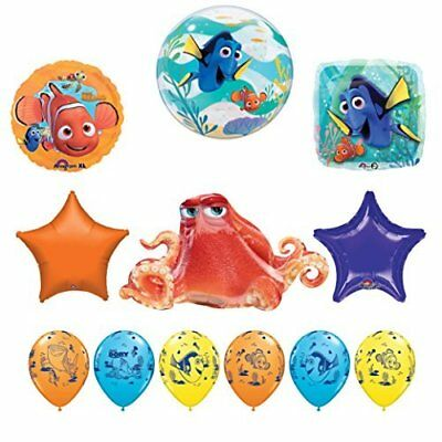 Finding Nemo Party Decorations (12 pc Finding Dory Nemo and Hank Birthday Party Balloon supplies)