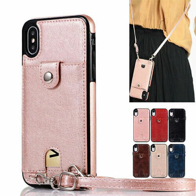 Women Wallet Cross Body Strap Case Cover For iPhone 11 Pro X