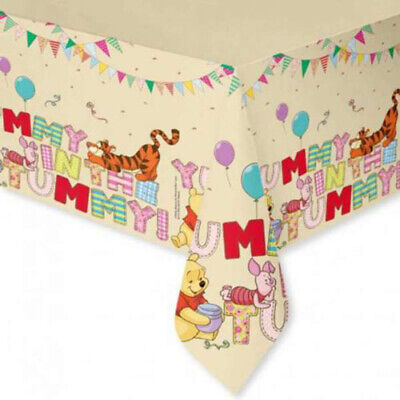 WINNIE THE POOH Alphabet TABLE COVER ~Birthday Party Supplies Cloth - Birthday Party Table Decorations