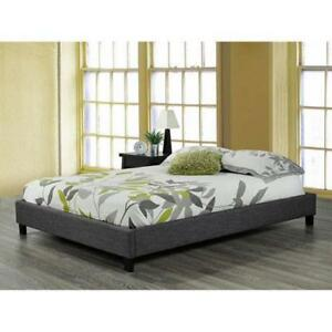 Brassex 90010-F Platform Bed Frame - Double  Grey (Assembled)