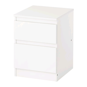 Ikea Kullen -  White Chest of 2 Drawers Great Condition Bondi Eastern Suburbs Preview