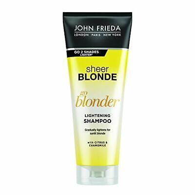 John Frieda Sheer Blonde Go Blonder Lightening Shampoo for Blonde Hair, 250 ml