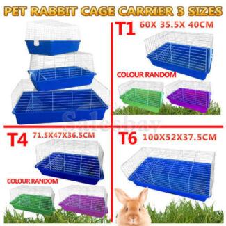 Pet Rabbit Pig Hutch Ferret Cage Run House Carrier 3 sizes