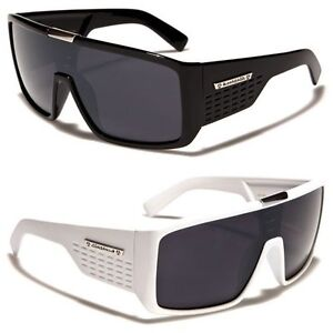 Biohazard-Goggle-Style-Mens-Designer-Sunglasses-Metal-Detail-on-Center