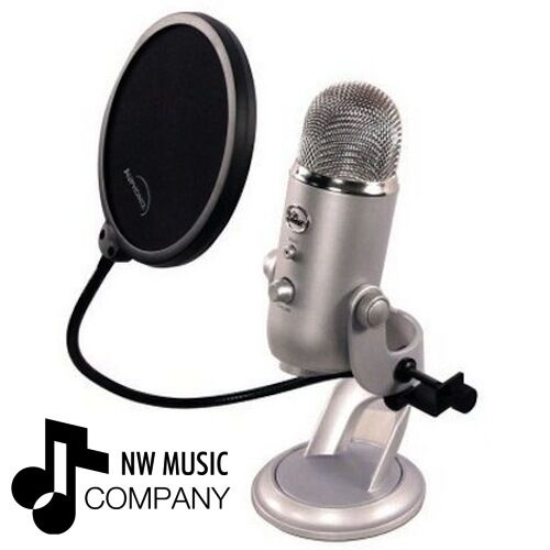 Blue Yeti Pop Filter - 6-inch - Eliminates The Thudding From