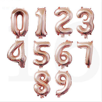 1pc Number 0-9 Foil Balloon 16inch digit Air Helium Globos Baby Shower  - Air Balloon Baby Shower