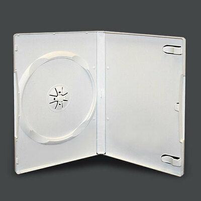 10 Standard 14mm Single Cd Dvd White Storage Case Box