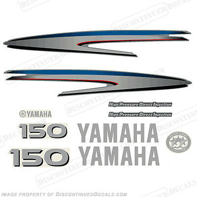 Yamaha Outboard Motor Decal Kit 150hp HPDI Kit - Marine Grade Decals