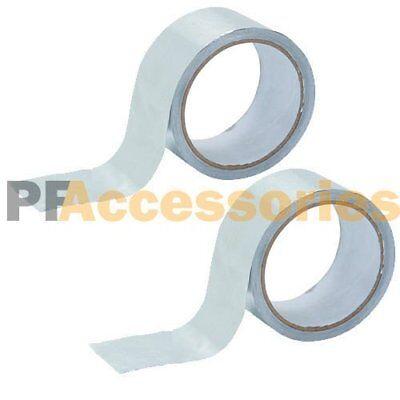 2 Rolls 26 Ft X 1.88 Aluminum Foil Heat Shield Tape Hvac Heating Ac Sealing Ad