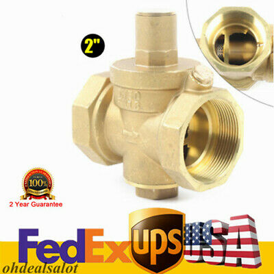 2 Dn50 Adjustable Water Pressure Reducing Valve Brass Valve Regulator