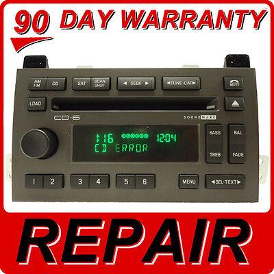 REPAIR 03 04 05 08 09 11 Lincoln TOWN CAR Radio 6 CD Changer FIX Player DISC OEM